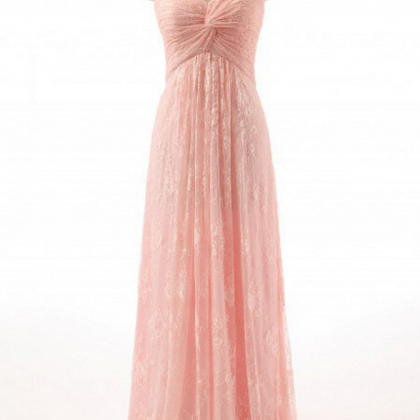 Pink A-Line Prom Dress,Lace Prom Dr..