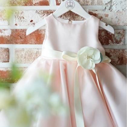 Flower Girl Dress, Pink flower girl..