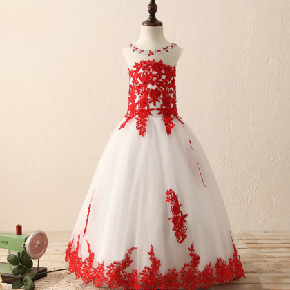 Lace Applique Princess Gowns Baby G..