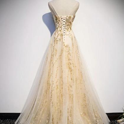 Beautiful Lace Long Prom Gown, New ..