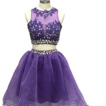 Grape Homecoming Dress, 2 Piece Hom..
