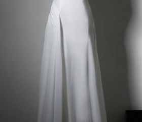 Simple White Chiffon..