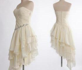 Adorable Ivory Asymm..