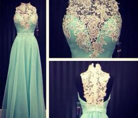 Lace Prom Dress Slee..
