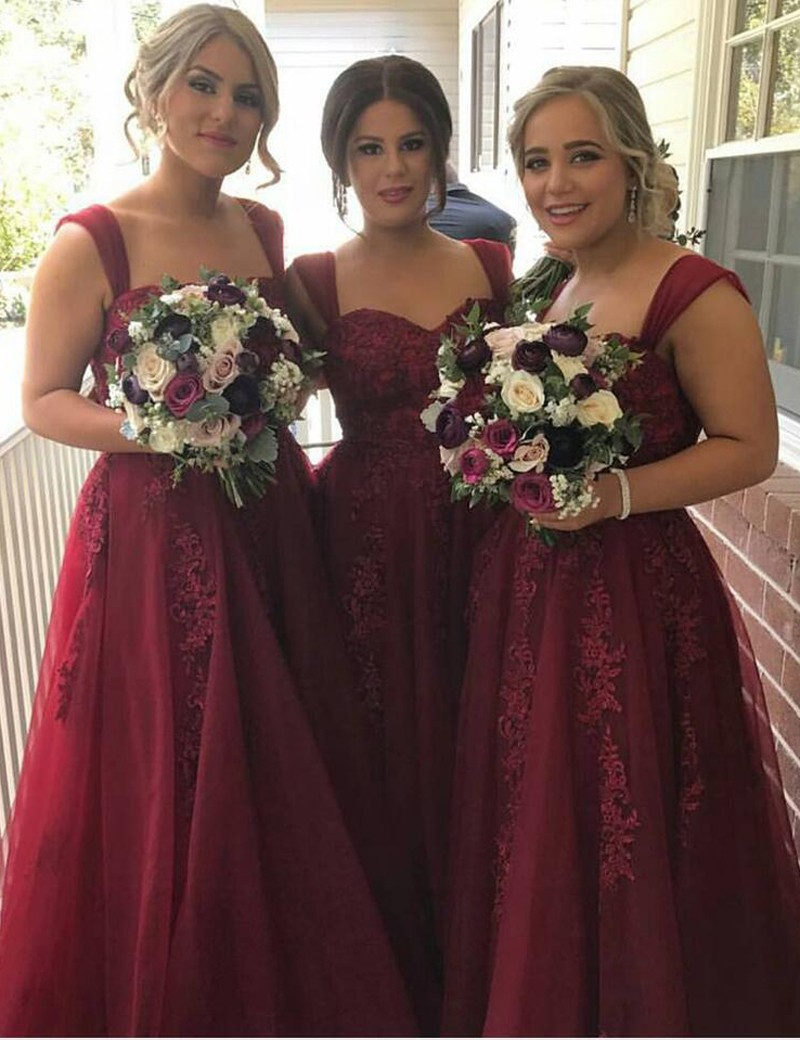 Simple Bridesmaid Dresses Mermaid Prom Dress Liques Evening Gowns Burgundy Long Wedding Junior