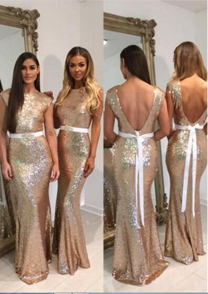 Gold Bridesmaid Dressessequins Bridesmaid Dressesmermaid