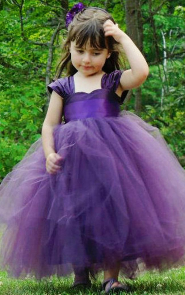 Pretty flower girls dresses for weddings party cap sleeves ruched pretty flower girls dresses for weddings party cap sleeves ruched tulle purple green little kids toddler first communion dress mightylinksfo