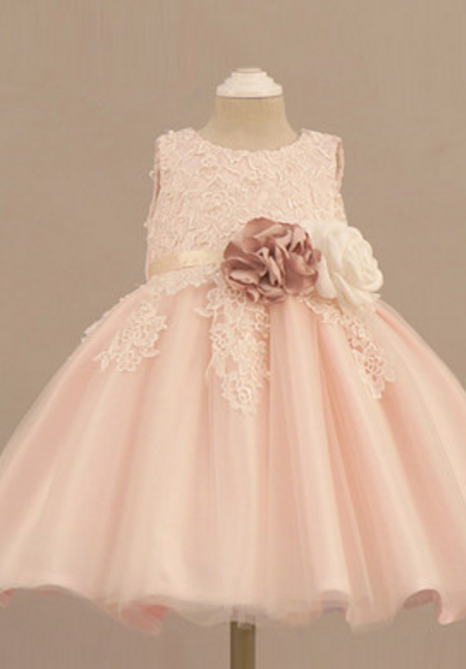 a73a03f45b Light Pink Flower Girl Dress