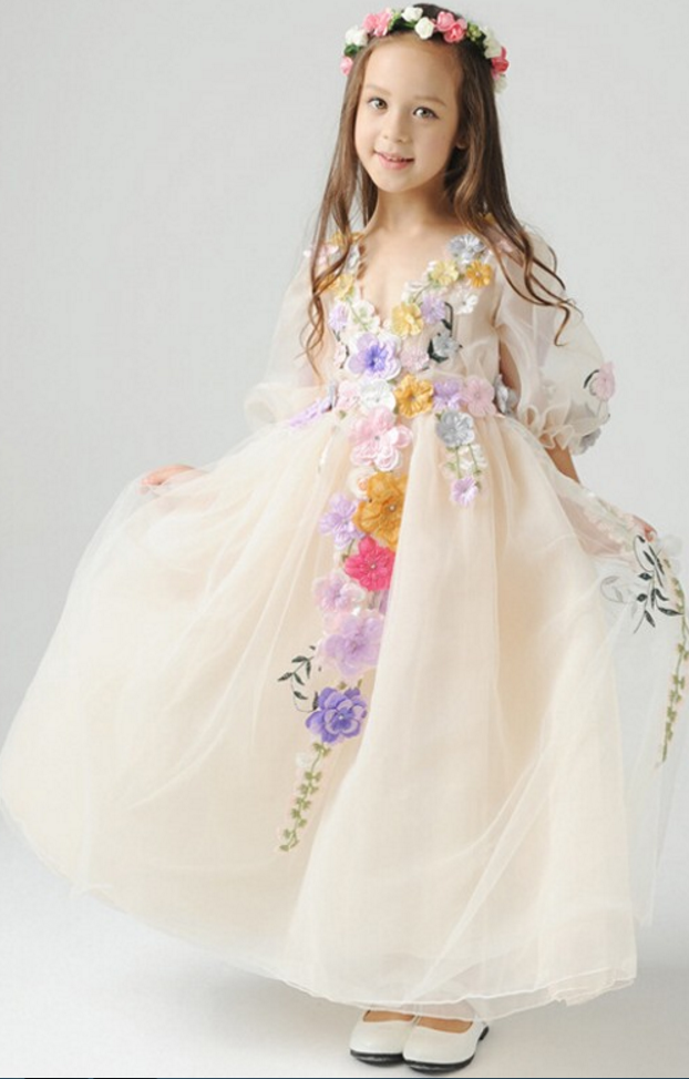 Flower Girl Dresspretty Flower Girl Dress Charming Flower Girl