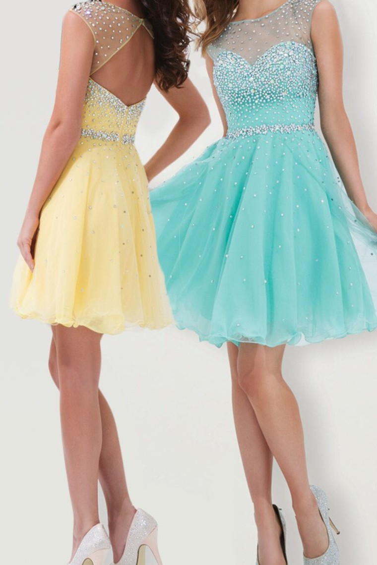 Beading Graduation Dresses, Short/Mini Graduation Dresses, Real Made ...