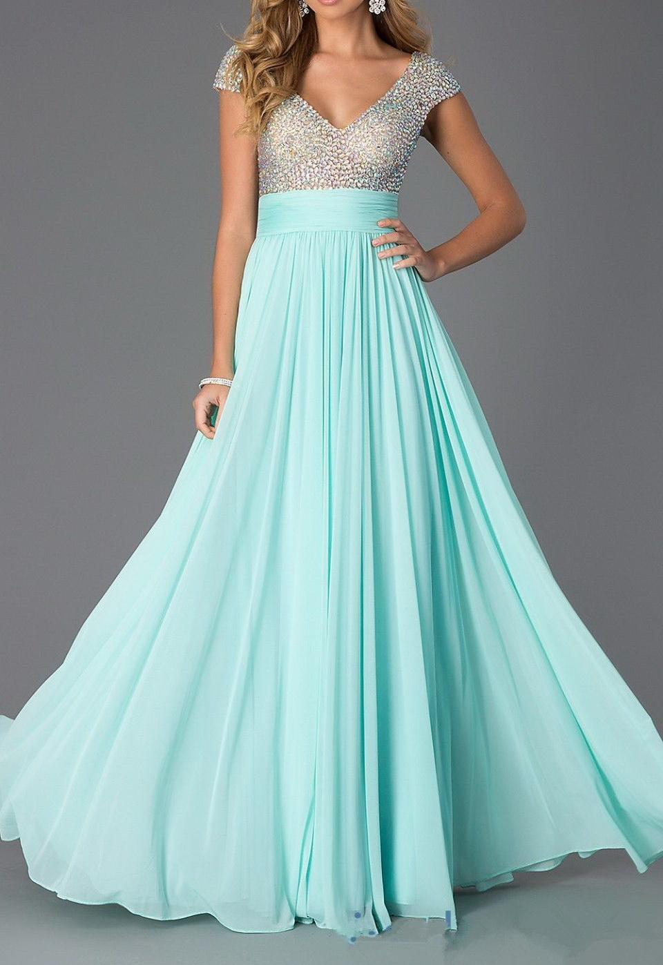 Sequin Prom Dresses, Mint Prom Dresses, Tulle Prom Dresses ,Long ...