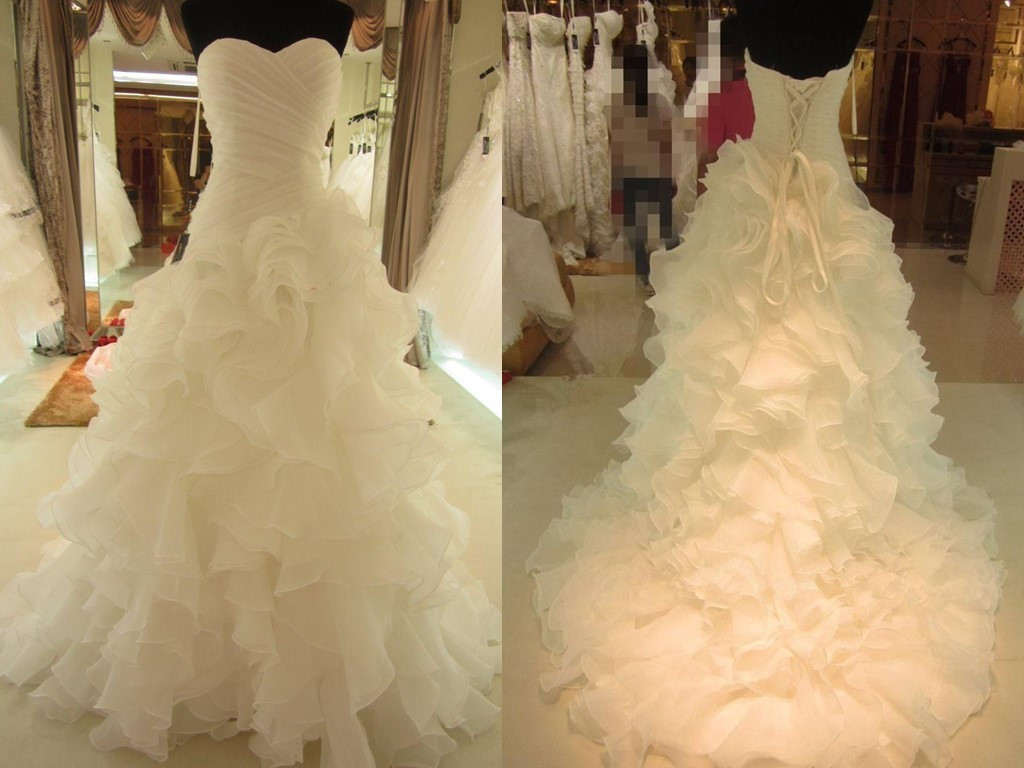 White Wedding Dresses, Wedding Gown,Organza Wedding Gowns,Ball Gown ...