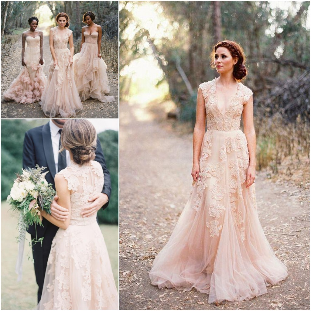 Lovely wedding dresseslong wedding gowntulle wedding gownslace lovely wedding dresseslong wedding gowntulle wedding gownslace bridal dressromantic wedding dressunique blush pink brides dressspring wedding gowns ombrellifo Images