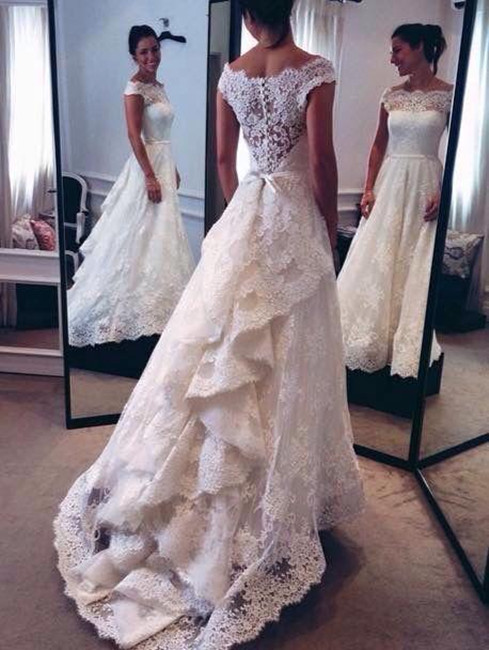 White wedding dresseslong wedding gownlace wedding gownsmodest white wedding dresseslong wedding gownlace wedding gownsmodest bridal dresswedding dress with cap sleeveswhite brides dresselegant wedding gowns junglespirit Image collections