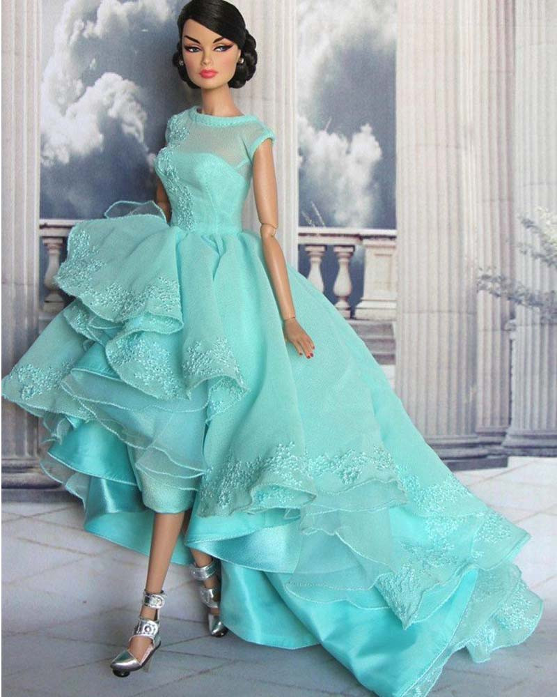 Hot New High Low Prom Dresses Lace Appliques Boat Neck Organza ...