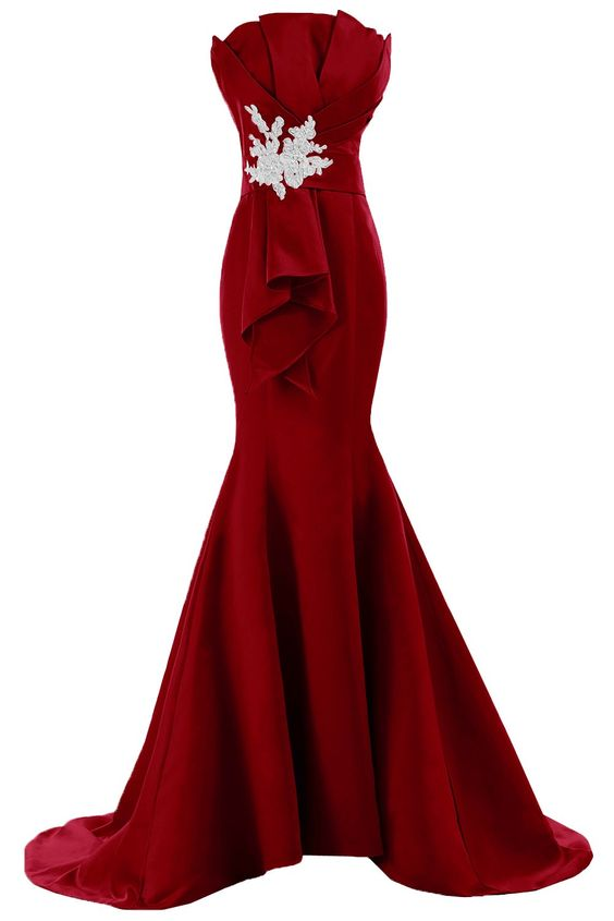 Evening Dresses, Prom Dresses,Burgundy Prom Dresses,Prom Dress,Burgundy Prom Gown,Burgundy Prom Gowns,Elegant Evening Dress,Modest Evening Gowns,Simple Party Gowns,Mermaid Prom Dress