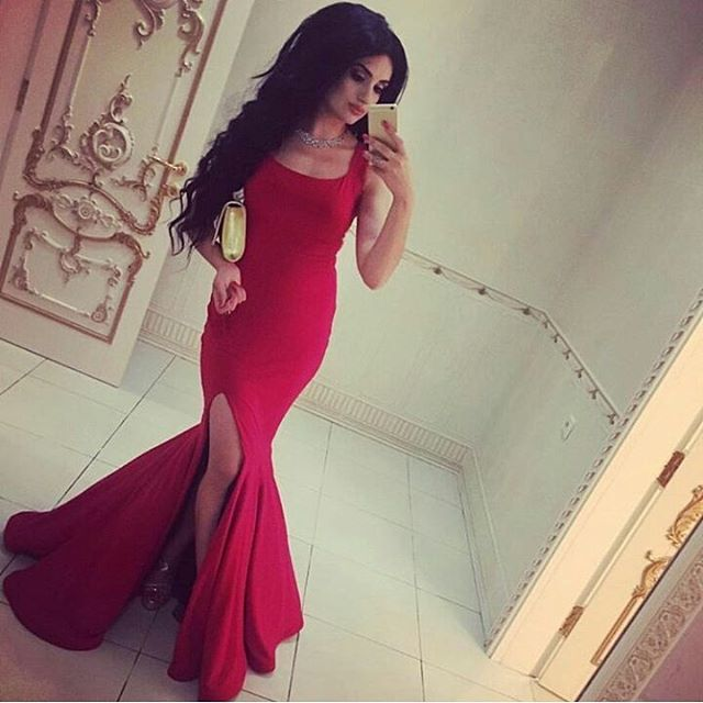 fb33f303658e Evening Dresses, Prom Dresses,Party Dresses,Prom Dresses,Red Mermaid Prom  Dress