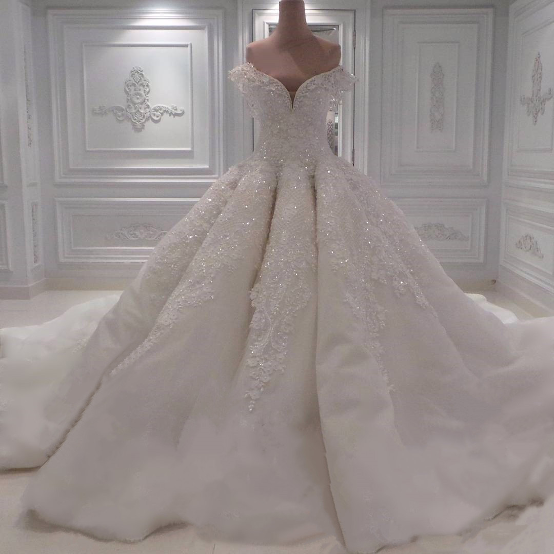 Wedding Dresses, Wedding Gown,sexy off the shoulder white lace sweetheart ball gown wedding dresses, with illusion back 2017 new design Princess Wedding Dresses