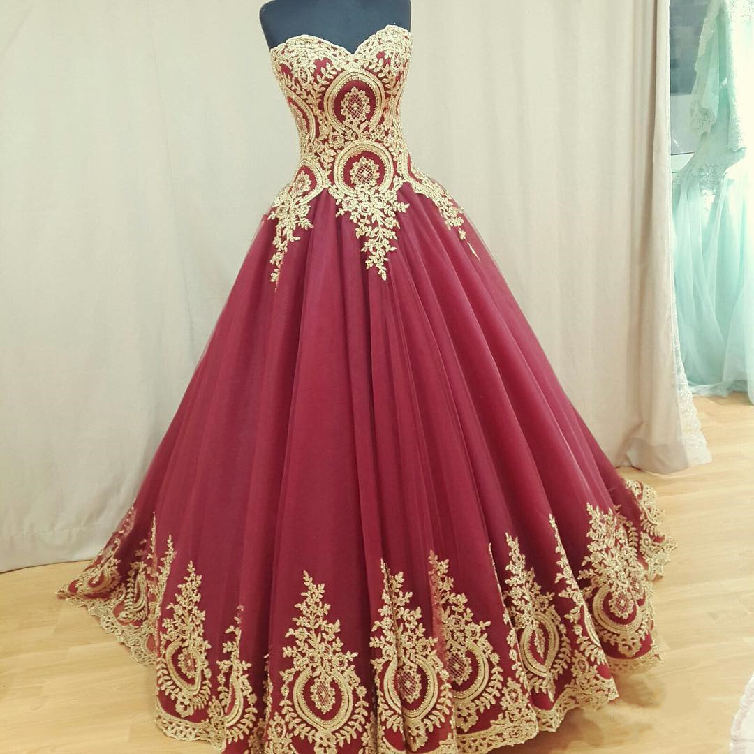 Wine red wedding dress burgundy wedding gowns ball gown for Best way to sell used wedding dress