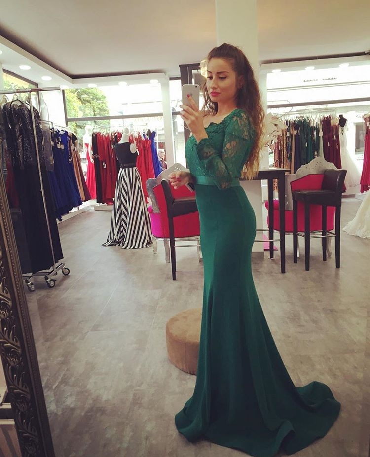 0e5e95d5f24daf Evening Dresses, Prom Dresses,Party Dresses,New Arrival Prom Dress,Modest Prom  Dress,Dark Green Off The Shoulder Mermaid Prom Gown,Charming Prom Dress,Long  ...