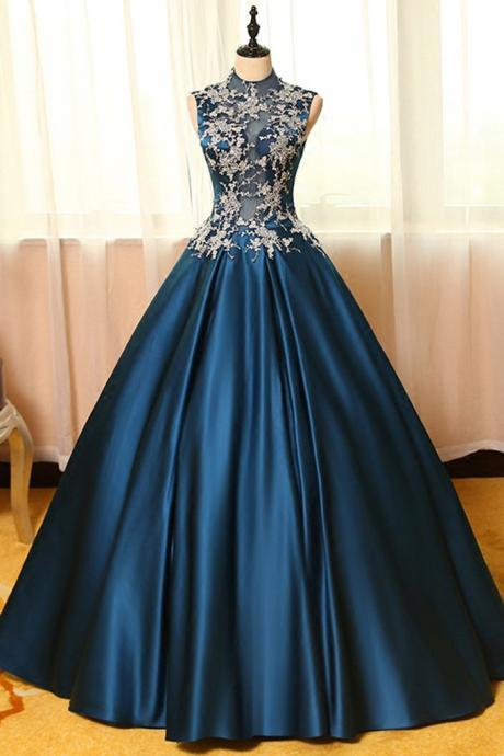 Lace Prom Dresses,Satin Prom Dresses,Satin Prom Gown,Prom Dress,Evening Gown For Teens