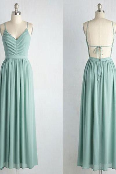 Retro bridesmaid Dresses,mermaid prom dress,Backless Bridesmaid Dresses, Chiffon bridesmaid dresses, long bridesmaid dresses, bridesmaid dresses
