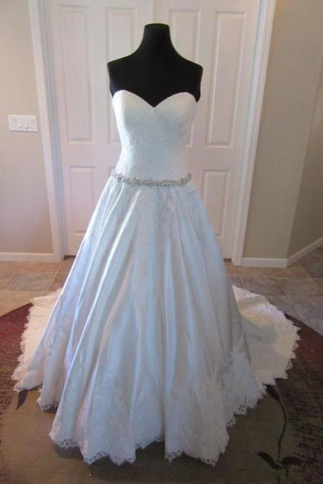 Wedding Dresses,lace Wedding Gown,Princess satin Wedding Dresses elegant ball gowns wedding dresses