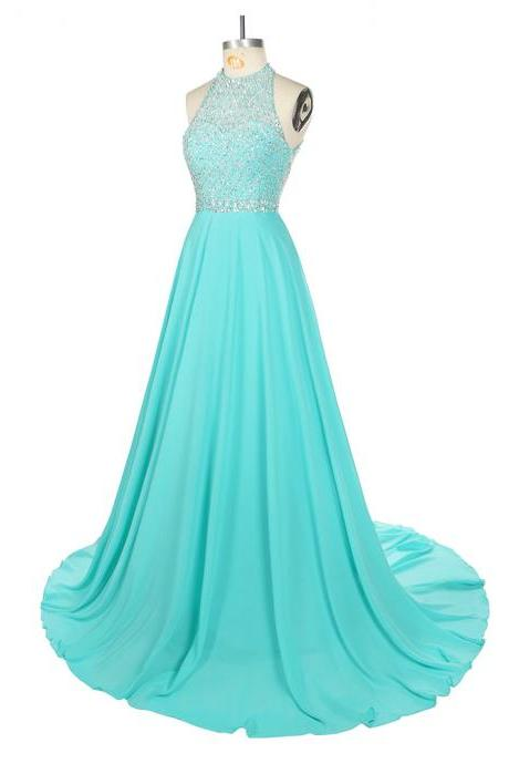 Long Evening Dress Floor Length Sleeveless Long Prom Party Gowns Robe de Soiree