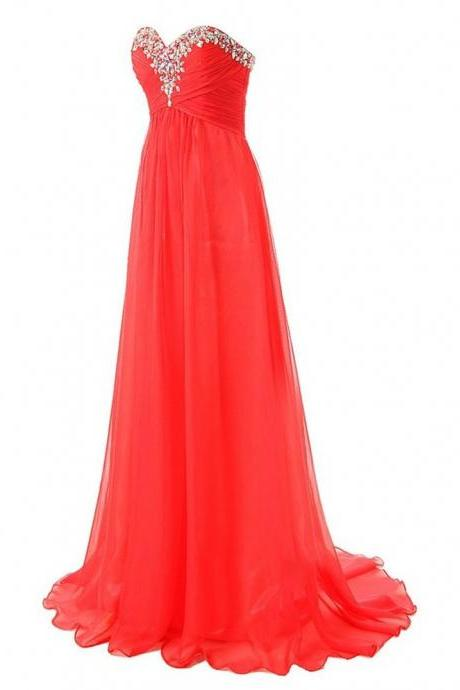 Long Dresses Evening Moroccan Kaftan Dresses Chiffon Rhinestones Evening Dress
