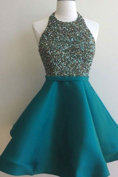 homecoming dresses,sequin short green prom dress, homecoming dress
