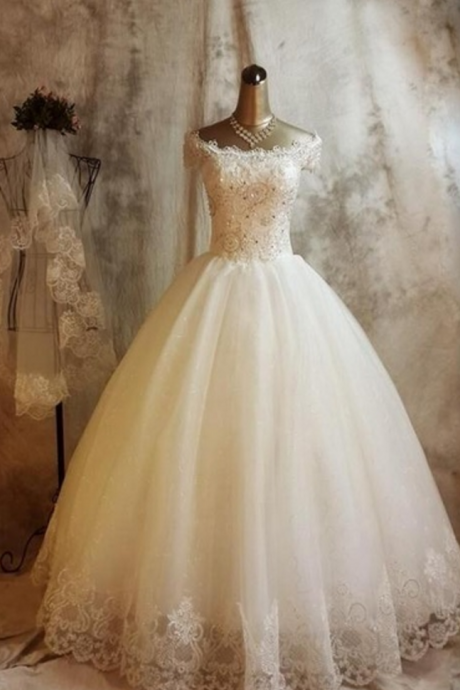 Charming Beading Wedding Dresses,Wedding Dress,Custom Made Wedding Gown