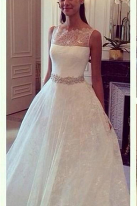 Long Wedding Dresses, Lace Wedding Dresses , White Wedding Dresses Off The Shoulder Wedding Dresses See Through Weddng Dreseese Appliques Bridal Dresses