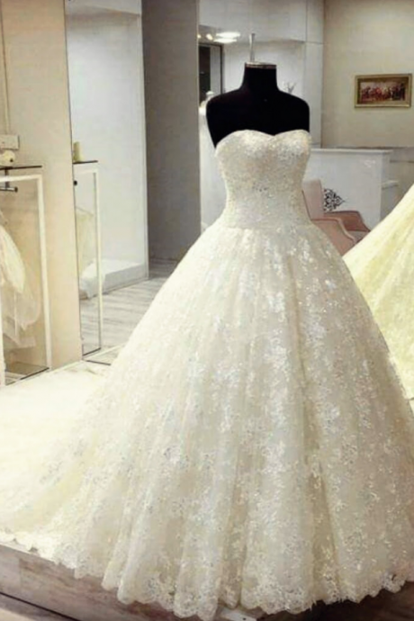 sweetheart lace ball gowns wedding dresses real sample bridal gowns