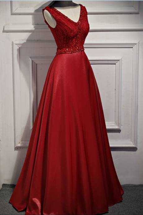Evening Dresses Long ,with Stones Party Formal Evening Gowns Dresses