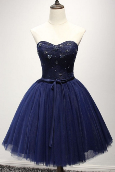 Lovely A-line Homecoming Dresses,Sweetheart Homecoming Dresses,Beaded Homecoming Dresses,Royal Blue Homecoming Dresses,Short Prom Dresses,Party Dresses