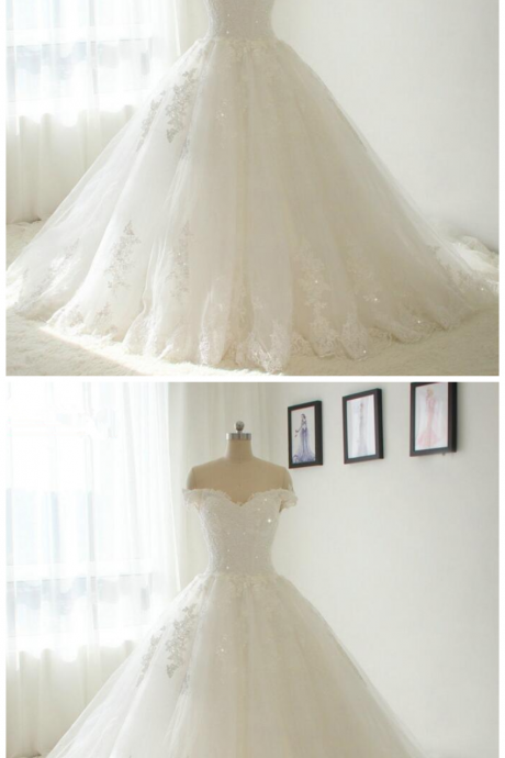 Off Shoulder Beautiful New Lace Wedding Dress