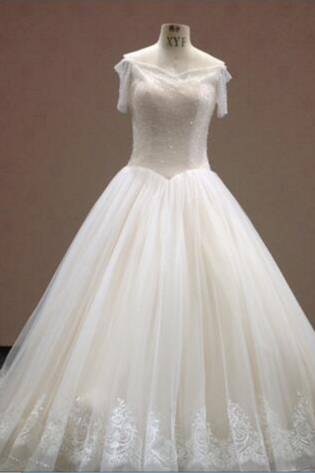 Real Sample Short A-Line Wedding Dress Beading Graceful De Novia Size Plus