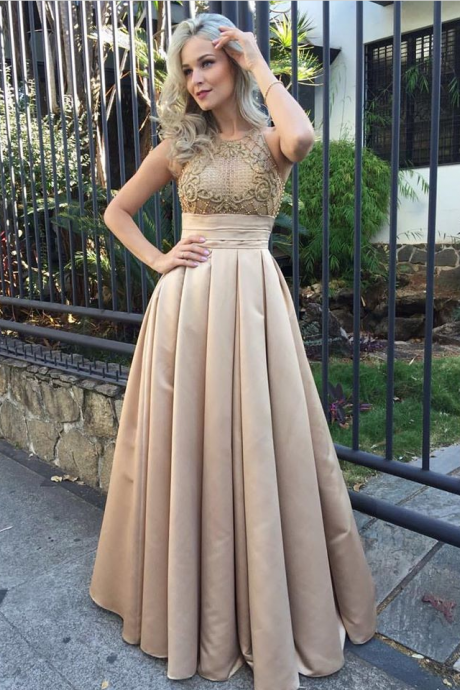 Stunning champagne Prom Dress