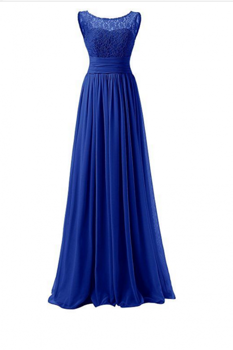 Royal Blue Prom Dresses,Royal Blue Prom Dress,Beaded Formal Gown,Beadings Prom Dresses,Evening Gowns,Chiffon Formal Gown For Senior Teens