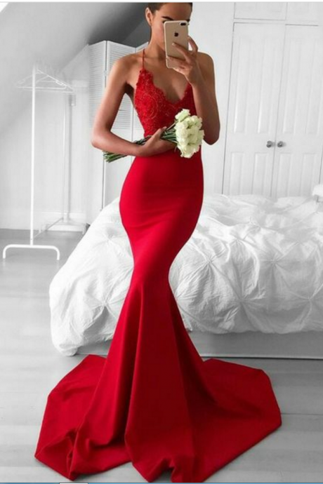 prom dresses,lace mermaid prom dress,cut out back party dress,formal evening dresses for women