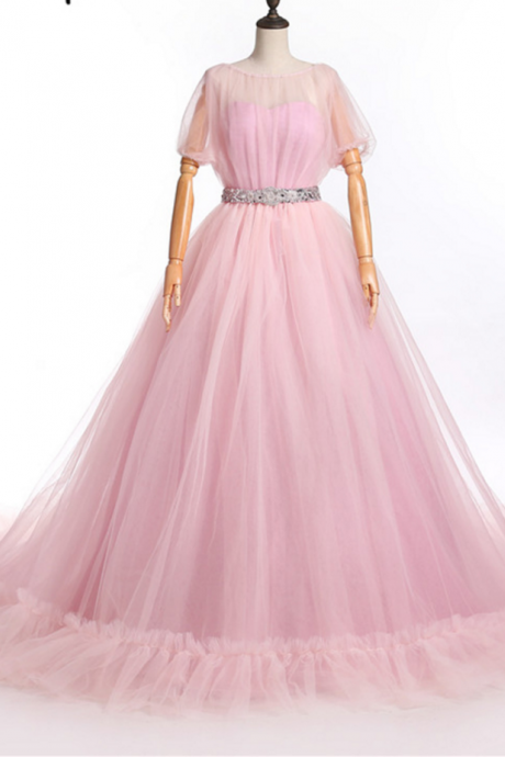 Puffy Rose Off shoulder party dress actual semi-formal PROM dress photo bubble cuff Festa dress