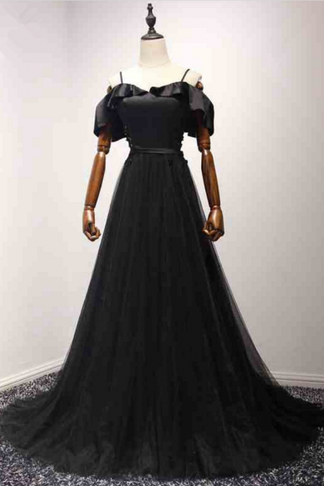 New arrival lovely evening black sleeveless passed the charming dress black dress party dress