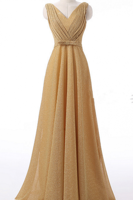 Champagne color long gown is new arrival party dress formal party dress