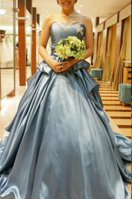 Ball Gown Prom Dresses Sweetheart Prom Dresses Strapless
