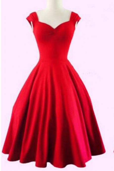 Vintage Black Red Short Homecoming Dresses Queen Anne Sweetheart A Line Evening Party Dresses for Girls