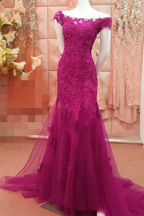 women's off the shoulder lace mermaid prom dresses evening gowns,