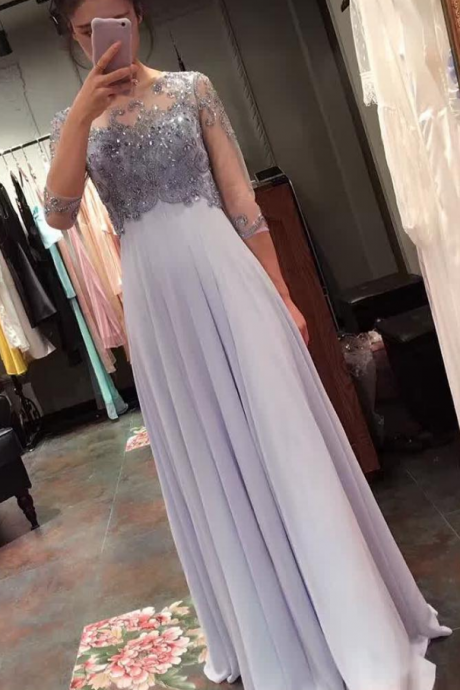 Elegant Prom Dresses, Chiffon A line Prom Dress,Elegant Prom Dress,Modest Prom Dress ,Long Graduation Dress,Beading Party Dress,Evening Dress On Sale ,Dress For Prom,