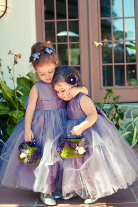 Newest Tulle Jewel Flower Girl Dress Sleeveless Floor-length,