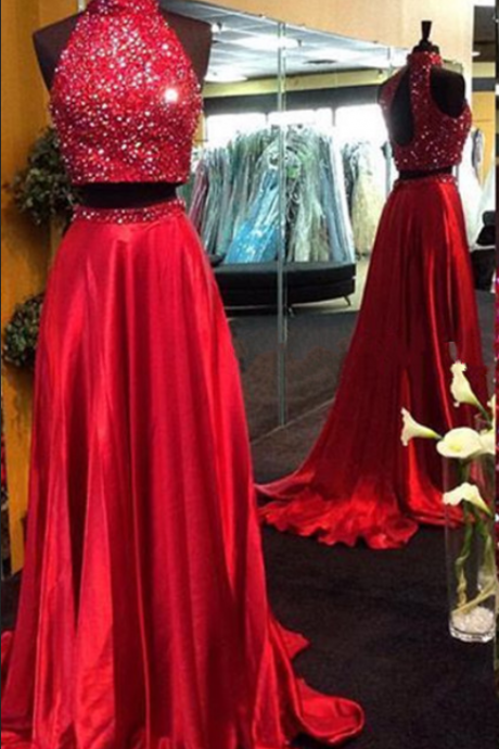 Red neck party dress. Prom Dresses