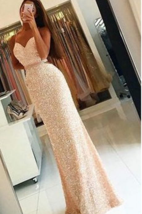 New Arrival Prom Dress,Sweetheart Prom Dress,Sequins Prom Dress, Long Woman Dresses,Mermaid Prom Gown,Charming Prom Dress